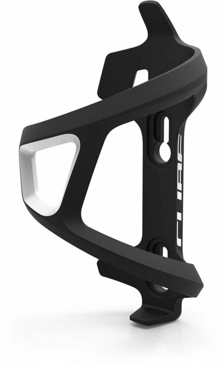 Cube bottle cage HPP Left Hand Sidecage nero n bianco n