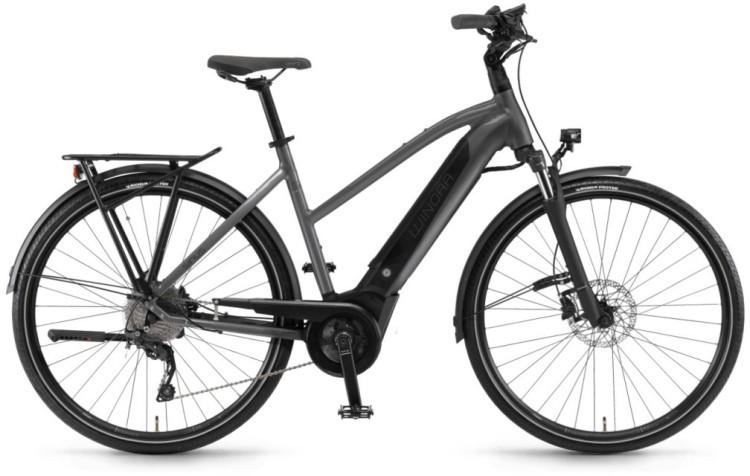 """Winora Sinus i9 500Wh 28"""" titan 2020 - E-Bike da Trekking per Donne Trapezio"""