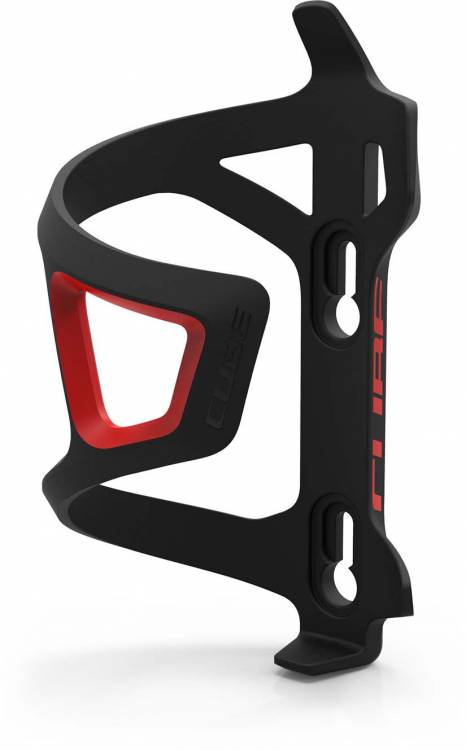 Cube bottle cage HPP Sidecage Sidecage nero n rosso