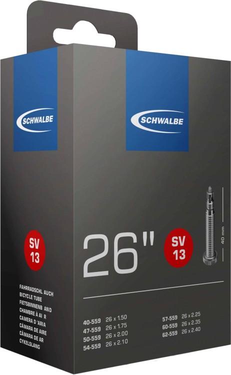 Camera d'aria Schwalbe 26 x 1,5-2,5 S SV13 40mm 40/62-559