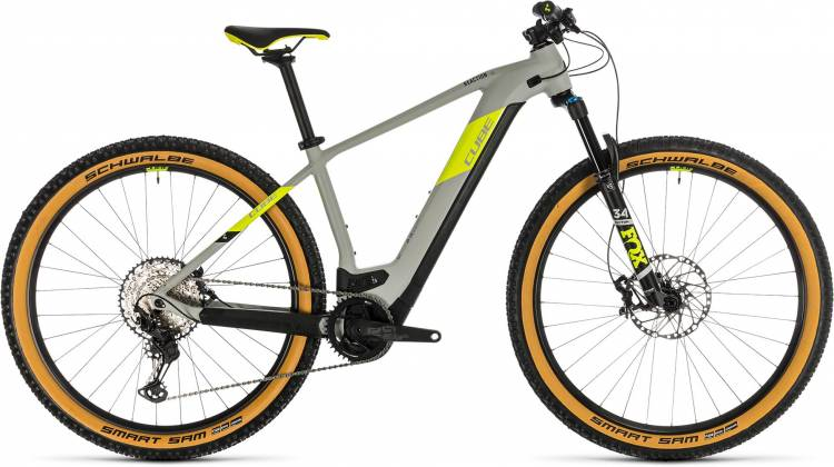 Cube Reaction Hybrid SLT 625 29 grey n yellow 2020 - E-Bike Hardtail Mountainbike
