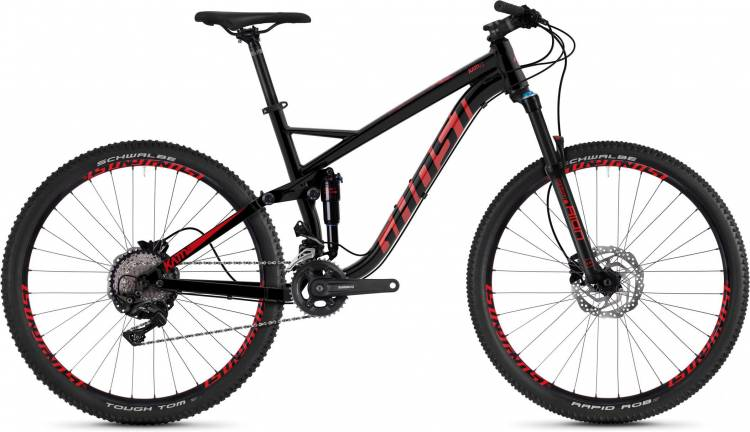 Ghost Kato FS 3.7 AL U jet black / riot red 2020 - Fully Mountainbike