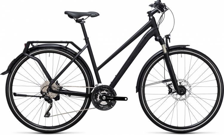 Cube Kathmandu black edition 2017 - Bici da Trekking per Donne Trapezio