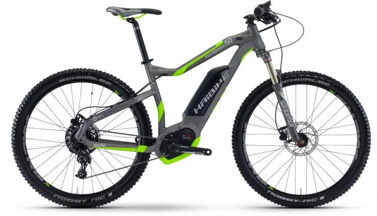 Haibike XDURO HardSeven 5.0 500Wh titan/neon grün matt 2017 - E-Bike Hardtail Mountainbike