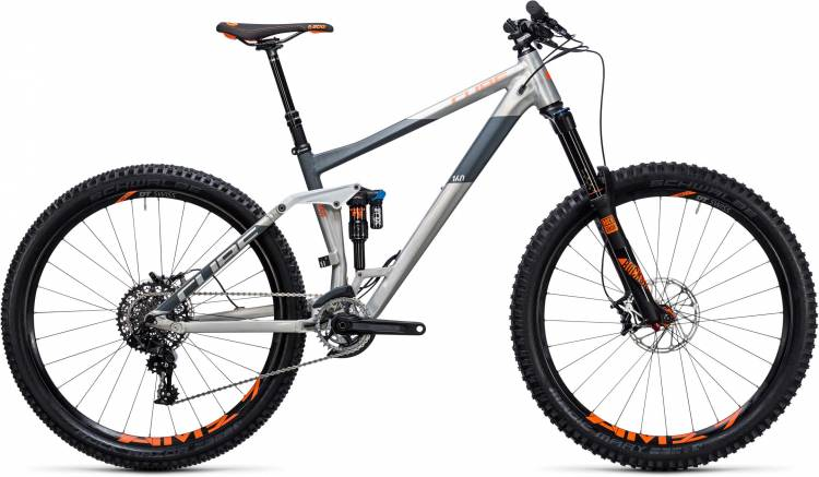 Cube Stereo 160 HPA TM 27.5 raw n flashorange 2017 - Fully Mountainbike