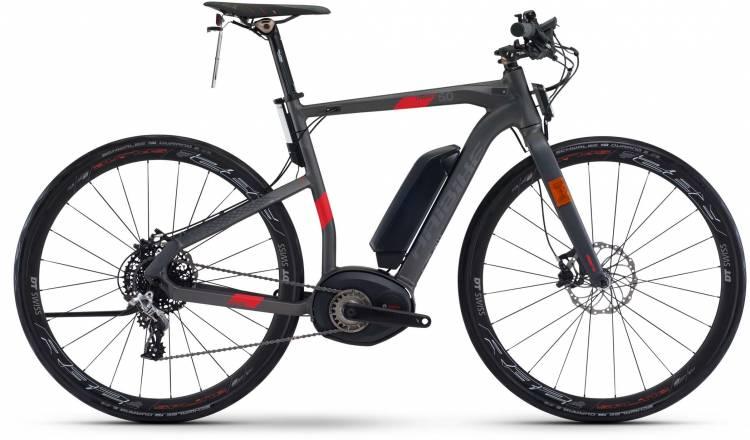 Haibike XDURO Urban S 5.0 500Wh anthrazit/rot matt 2017 - E-Bike da Fitness per Uomini