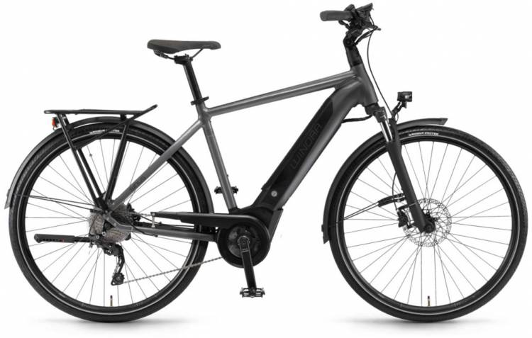 "Winora Sinus i9 500Wh 28"" titan 2020 - E-Bike da Trekking per Uomini"