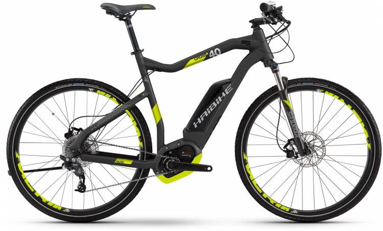 Haibike XDURO Cross 4.0 500Wh titan/lime matt 2017 - E-Bike da cross per Uomini