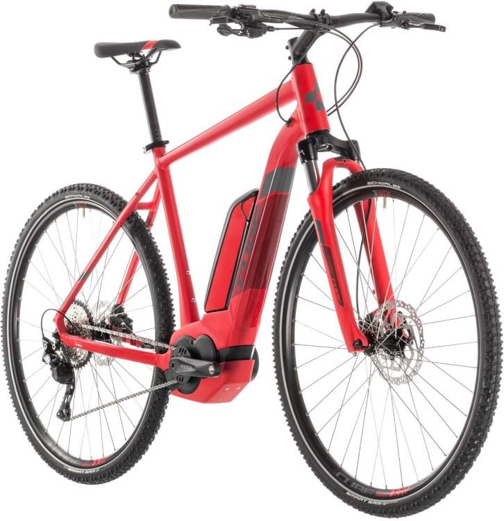 Cube Cross Hybrid Pro 500 red n grey - Uomo 2019