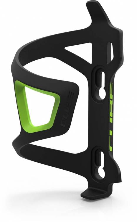 Cube bottle cage HPP Sidecage Sidecage nero n verde