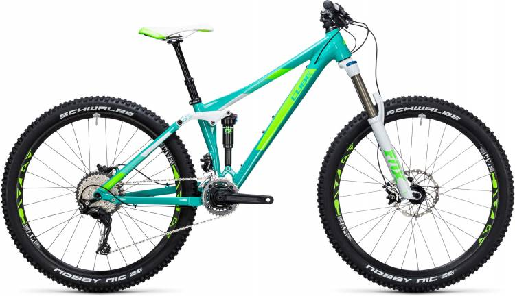Cube Sting WLS 140 Race 27.5 2x mint n green 2017 - Fully Mountainbike per Donne
