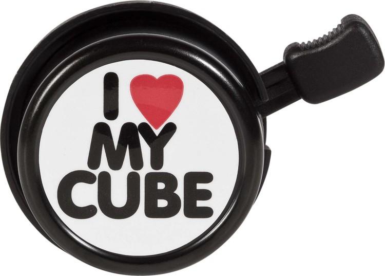 Cubo bicicletta campana I LOVE MY Cube nero n bianco n bianco n rosso