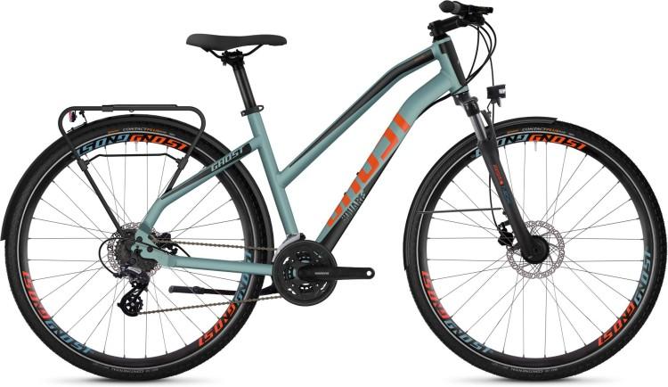 Ghost Square Trekking 2.8 AL W river blue / jet black / monarch orange 2020 - Bici da Trekking per Donne