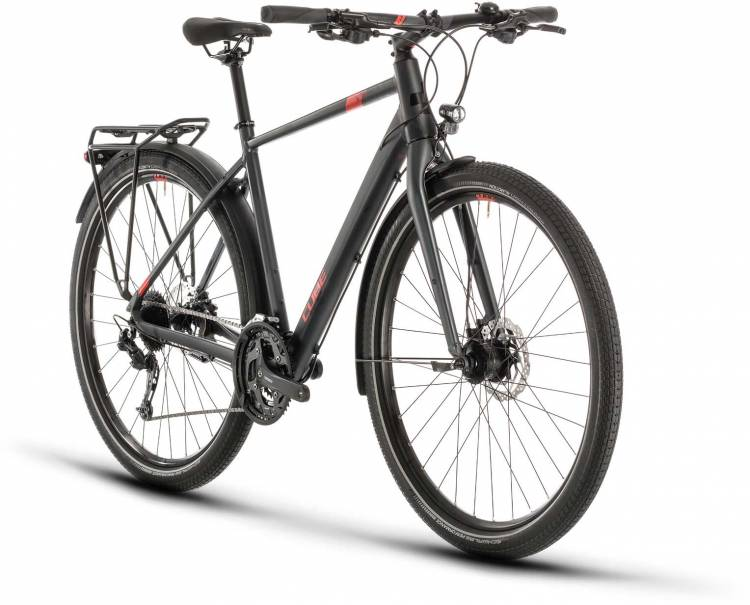Cube Travel iridium n red 2020 - Bici da Trekking per Uomini