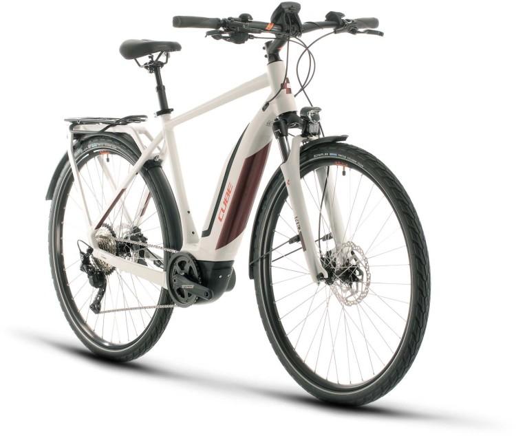 Cube Touring Hybrid Pro 500 grey n red 2020 - E-Bike da Trekking per Uomini