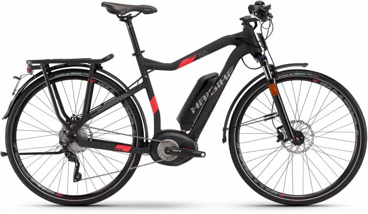 Haibike XDURO Trekking S 5.0 500Wh schwarz/rot matt Herren 2017