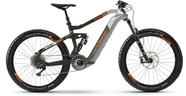 Haibike XDURO Nduro 8.0 FLYON i630Wh silver/olivee/orange dull 2021