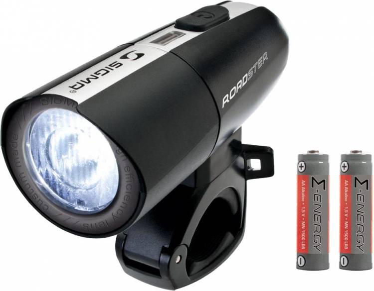 Faro anteriore a LED Sigma Roadster, incl. 2 batterie AA