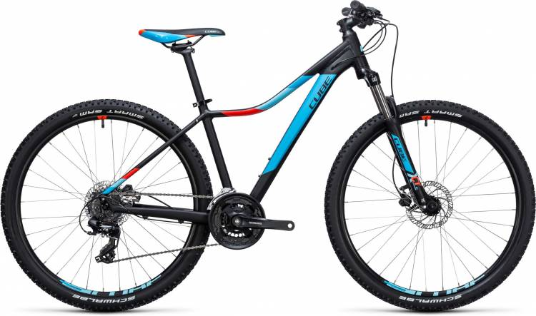 Cube Access WLS Disc black n blue 2017 - Hardtail Mountainbike per Donne