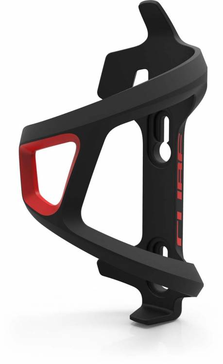 Cube bottle cage HPP HPP mano sinistra Sidecage nero n rosso