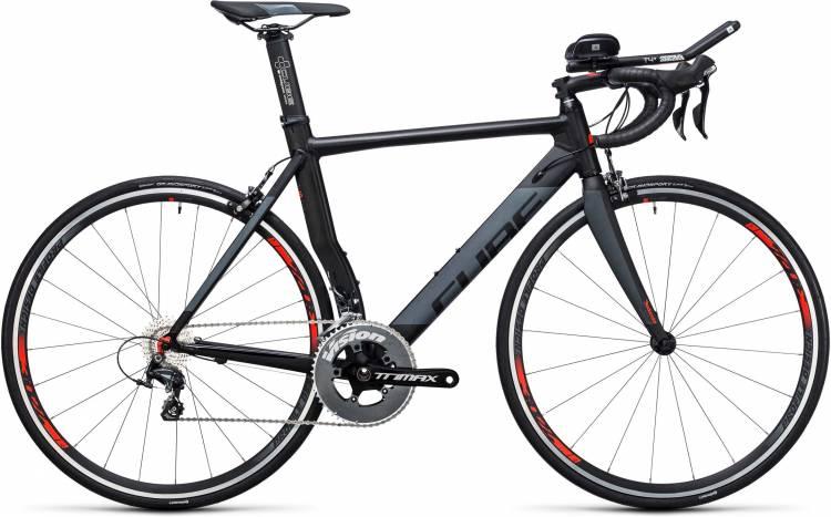 Cube Aerium HPA Pro black n grey 2017 - Bici Triathlon