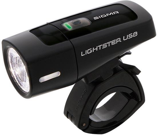 Sigma Lightster USB Frontleuchte + Mikro USB Ladekabel