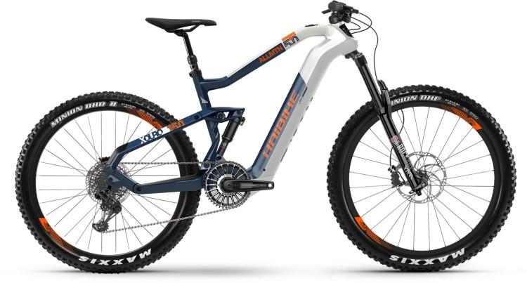 Haibike XDURO AllMtn 5.0 FLYON i630Wh weiß/blau/orange 2020