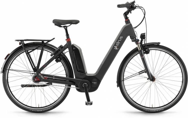 """Sinus Ena7 400Wh 28"""" RT mysterypearl matt 2017 - E-Bike da Trekking per principianti"""