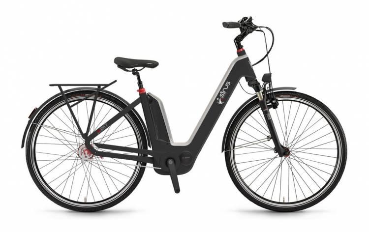 "Sinus Ena7f 400Wh 28"" FL mysterypearl matt 2017 - E-Bike da Trekking per principianti"