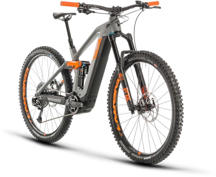Cube Stereo Hybrid 140 HPC TM 625 29 grey n orange 2020 - E-Bike Fully Mountainbike