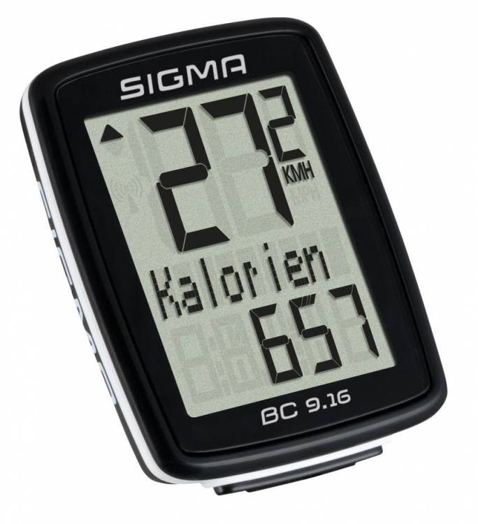 Sigma Fahrradcomputer BC 9.16 ATS kabellos schwarz