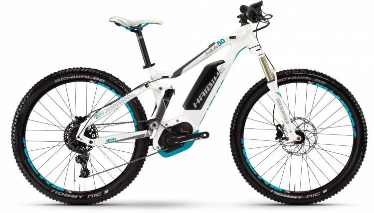 Haibike XDURO FullLife 5.0 500Wh weiß/titan/cyan 2017 - E-Bike Fully Mountainbike