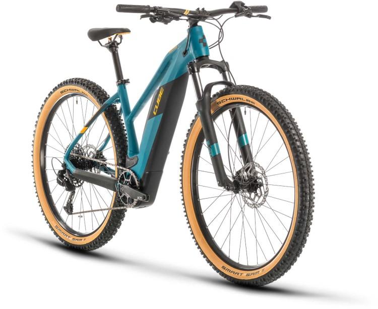 Cube Reaction Hybrid Pro 500 pinetree n orange 2020 - E-Bike Hardtail Mountainbike per Donne
