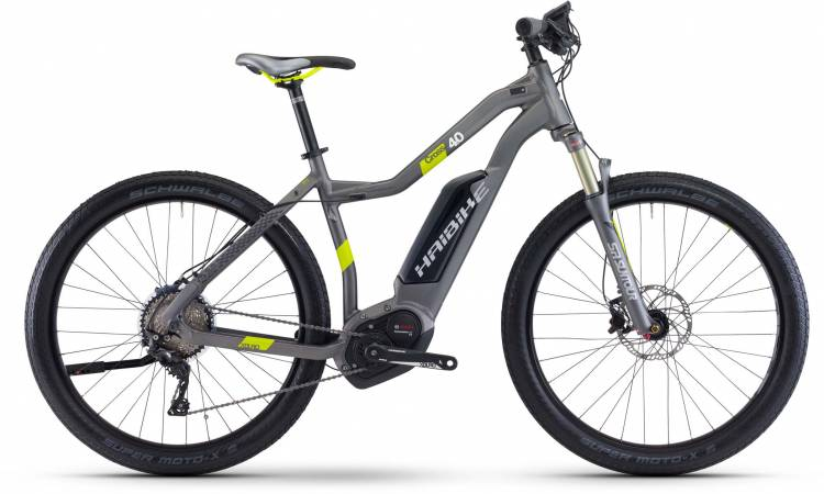 Haibike XDURO Cross 4.0 500Wh titan/lime matt 2017 - E-Bike da cross per Donne Trapezio