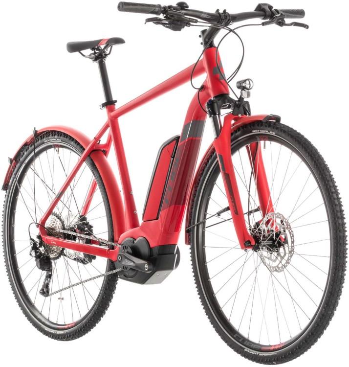 Cube Cross Hybrid Pro 500 Allroad red n grey - Uomo 2019