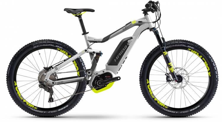 Haibike XDURO FullSeven 6.0 500Wh silber/anthr./lime matt 2017 - E-Bike Fully Mountainbike