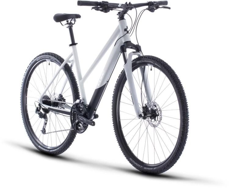 Cube Nature Pro grey n white 2020 - Bici da Cross per Donne