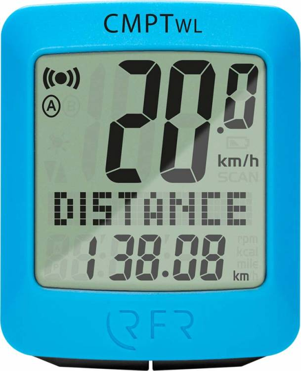 RFR bicicletta bicicletta computer senza fili CMPT blu
