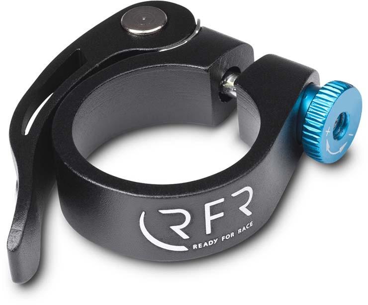 Morsetto a sella RFR con sgancio rapido 31,8 mm nero n blu