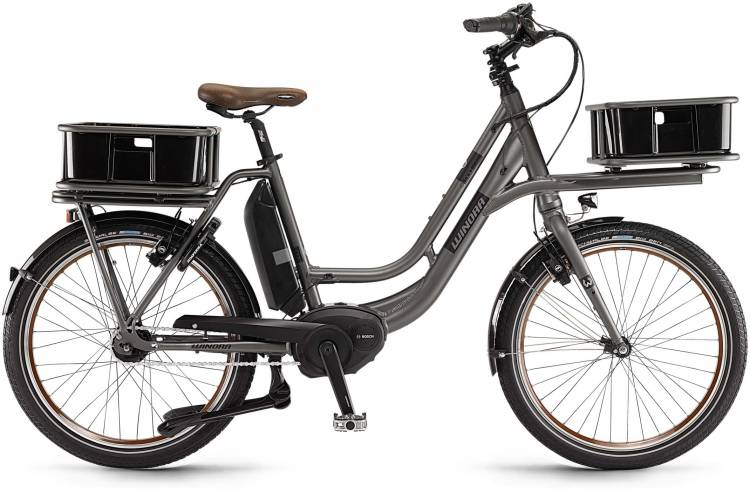 "Winora eLoad 400Wh 24"" FL graphit matt 2017 - E-Bike da Fitness per Uomini"
