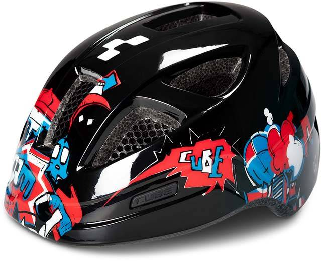 Cube Helm LUME black graffiti
