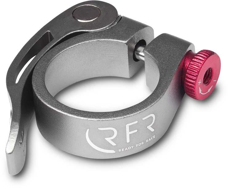 Morsetto a sella RFR con sgancio rapido 34,9 mm grigio n rosso