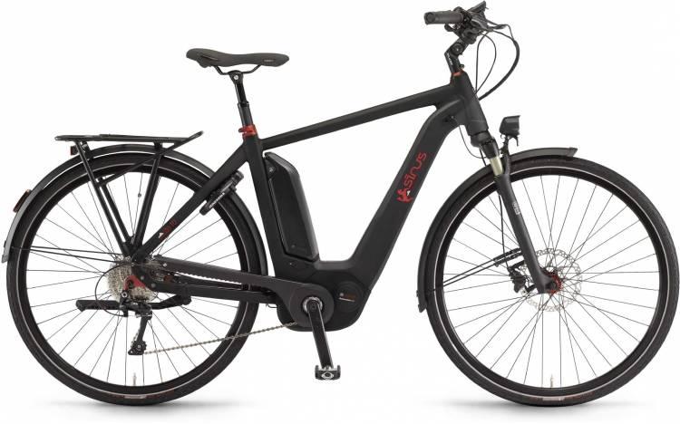 """Sinus Ena10 500Wh 28"""" schwarz matt 2017 - E-Bike da Trekking per Uomini"""