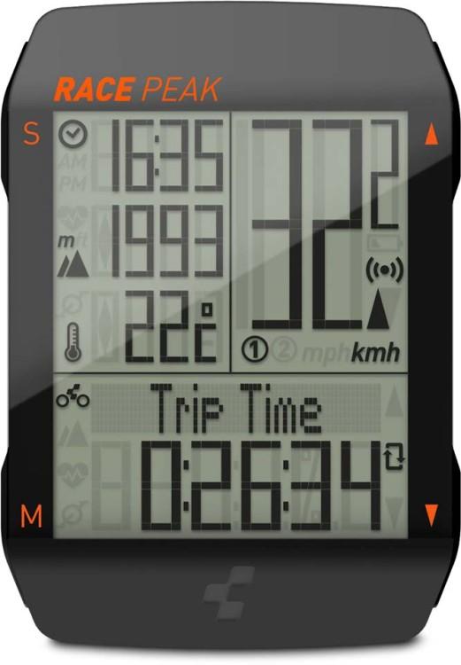 Cube Bike Computer Computer RACE PEAK nero n arancione