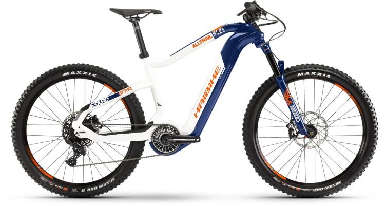Haibike XDURO AllTrail 5.0 FLYON i630Wh blau/weiß/orange 2021